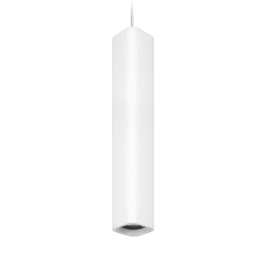 Підвісний світильник Maxus 6W яскраве світло 280мм квадратний білий