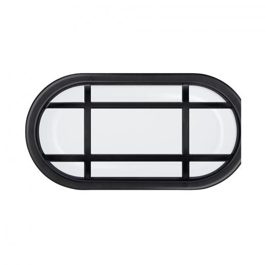 Антивандальный LED-светильник GLOBAL GBH 04 15W 5000K черный (эллипс)