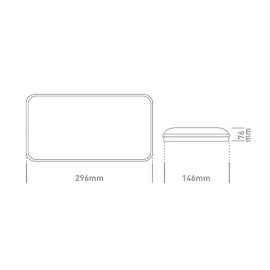 Антивандальный LED-светильник GLOBAL GBH 08 20W 5000K графит (прямоугольник)