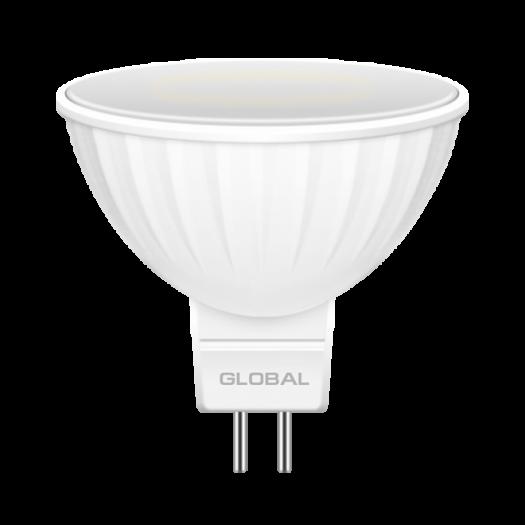 LED лампа GLOBAL MR16 5W теплый свет GU5.3 (1-GBL-113)