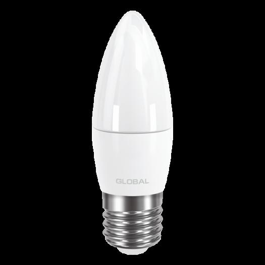 LED лампа GLOBAL C37 CL-F 5W теплый свет E27 (1-GBL-131)