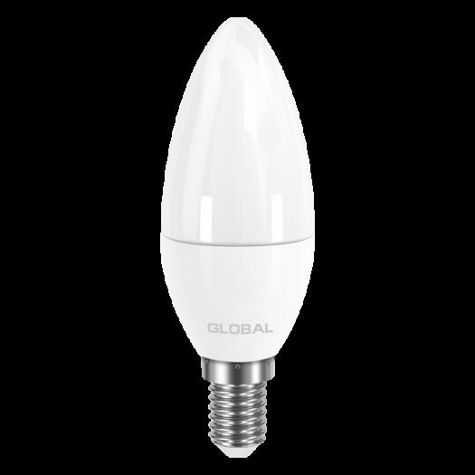 LED лампа GLOBAL C37 CL-F 5W тепле світло E14 (1-GBL-133)