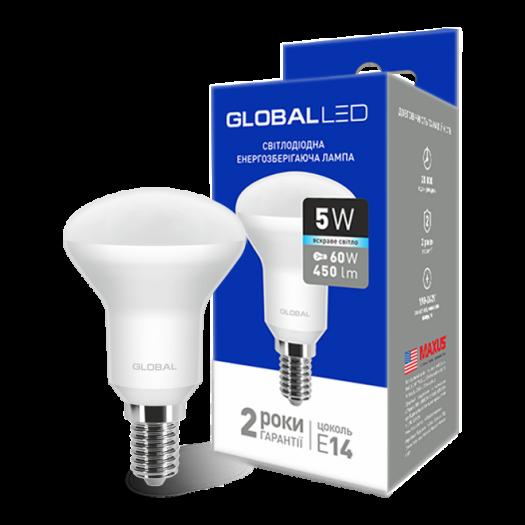 LED лампа Global R50 5W яскраве світло 220V E14 (1-GBL-154)