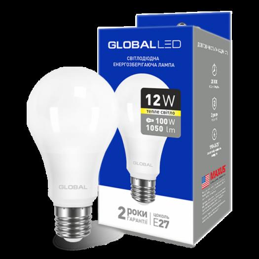 LED лампа GLOBAL A60 12W тепле світло E27 (1-GBL-165)