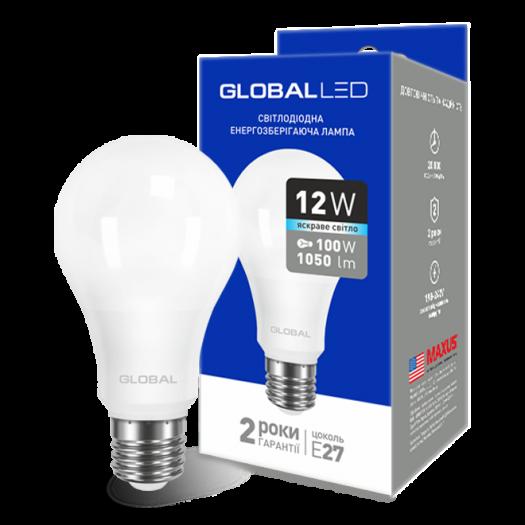 LED лампа GLOBAL A60 12W яскраве світло E27 (1-GBL-166)