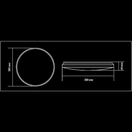 Умный светильник Global 40W (пульт, димминг, ночник, CCT 3000-6500K, IP44) круг