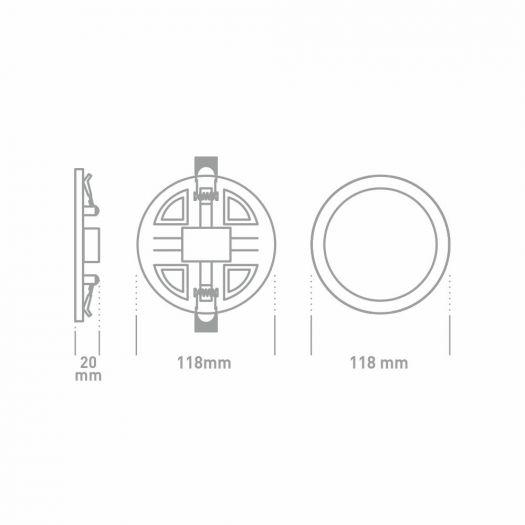 Точечный врезной LED-светильник GLOBAL SP adjustable 9W, 3000K (круг)