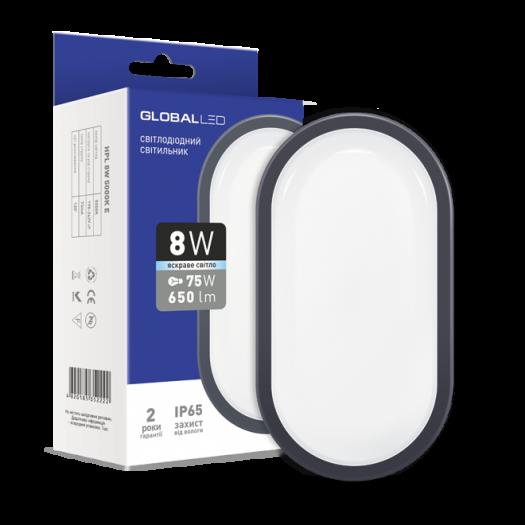 Світильник накладний Global 8W 5000K E (серія ЖКГ; IP65)
