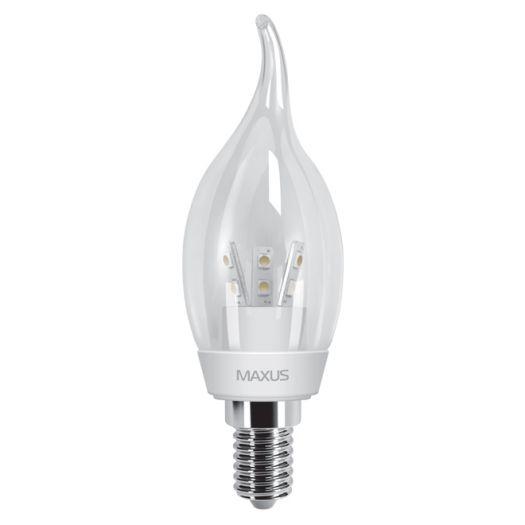 LED лампа 3W теплый свет C37 Е14 220V (1-LED-267)