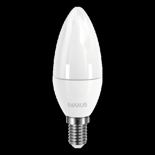 LED лампа MAXUS C37 CL-F 4W яскраве світло E14 (1-LED-5312)