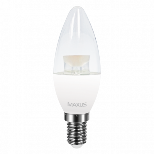 LED лампа MAXUS C37 CL-C 4W яскраве світло E14 (1-LED-5314)