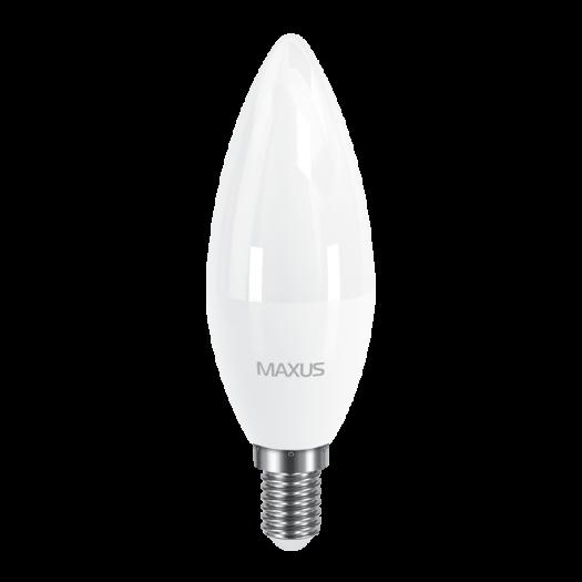LED лампа Maxus C37 CL-F 8W яскраве світло E14 (1-LED-5318)