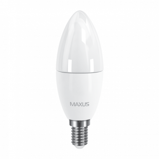 LED лампа MAXUS C37 6W тепле світло E14 (1-LED-533)