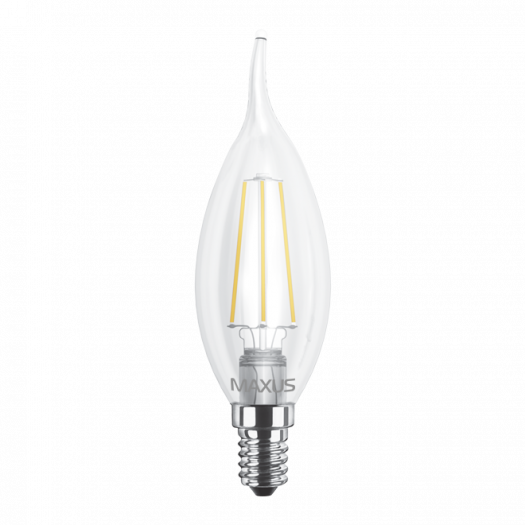 LED лампа MAXUS (filament) C37 TL 4W тепле світло E14 (1-LED-539)