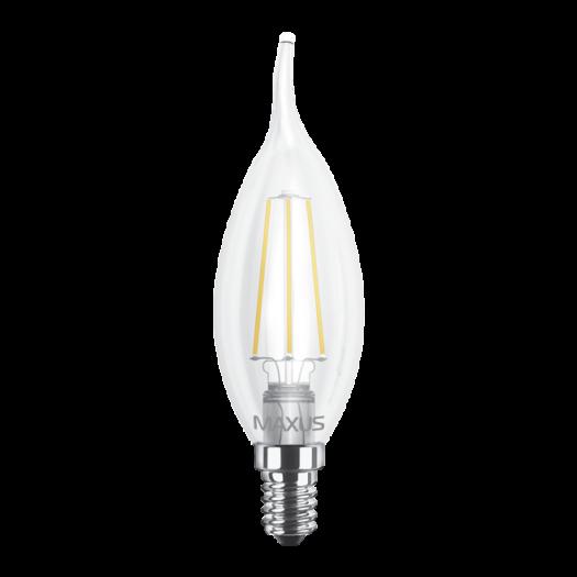 LED лампа MAXUS (filament) C37 TL 4W яскраве світло E14 (1-LED-540)