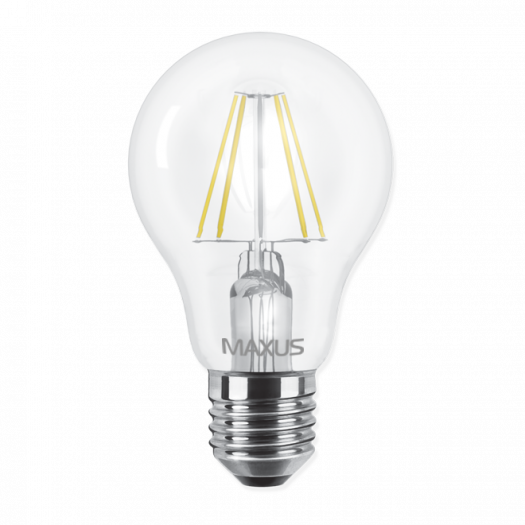 LED лампа Maxus (filament) А60 8W яскраве світло E27 (1-LED-566)