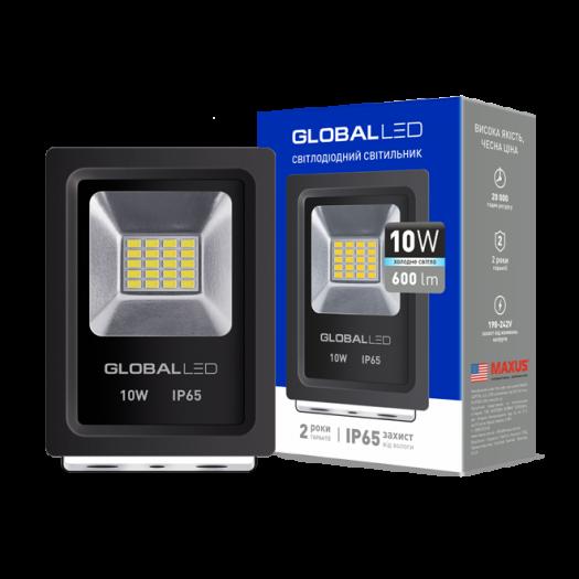 Прожектор Global FLOOD LIGHT 10W 5000K холодне світло (1-LFL-001)