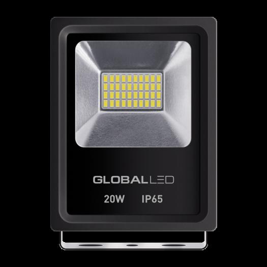 Прожектор Global FLOOD LIGHT 20W 5000K холодне світло (1-LFL-002)