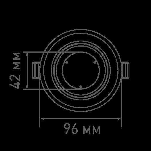 Точечный светодиодный светильник MAXUS 3-step 9W 3000/3500/4100K круглый