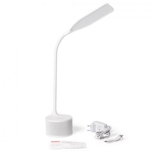 Розумна настільна лампа MAXUS DKL Sound 8W (звук, USB, діммінг, температура) біла