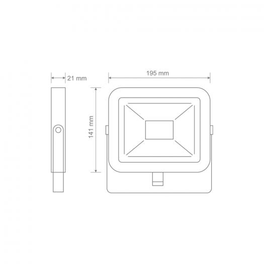 Світлодіодний прожектор MAXUS FL-01 30W, 5000K