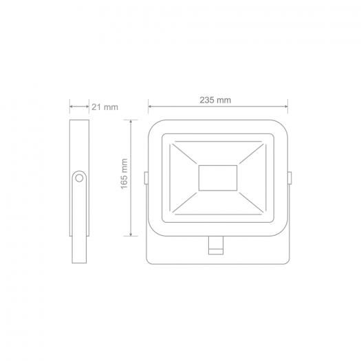 Прожектор світлодіодний MAXUS FL-02 50W, 5000K
