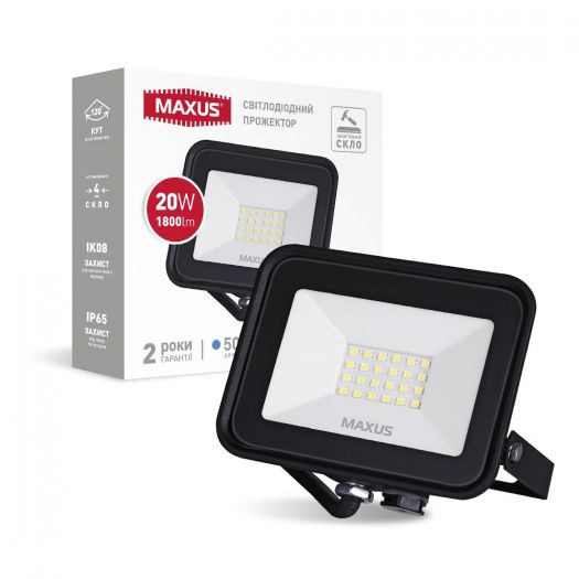 Прожектор світлодіодний MAXUS FL-04 20W 5000K