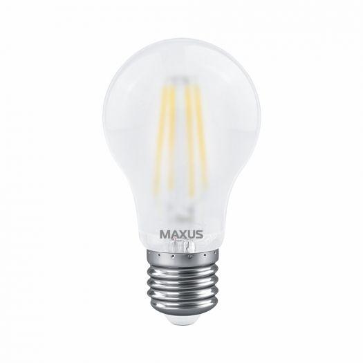 Лампа світлодіодна філаментна MAXUS A60 FM 8W 4100K 220V E27 Frosted