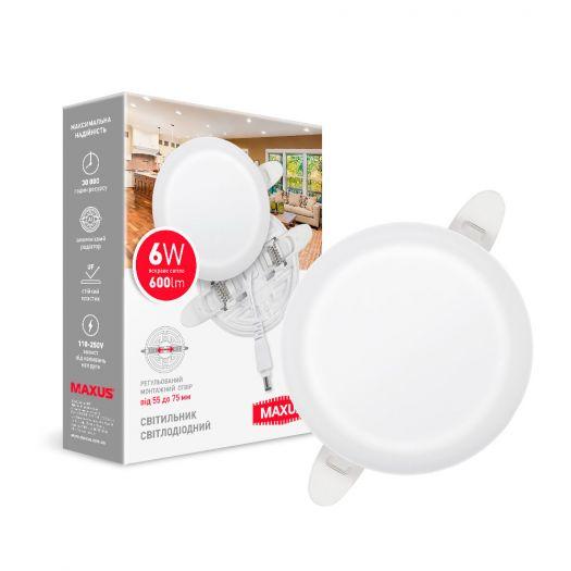 LED-светильник точечный встраиваемый MAXUS SP Adjustable 6W 4100K Circle
