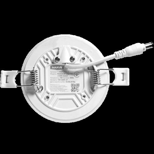 LED світильник точковий врізний MAXUS SP edge 9W, 4100К (коло)