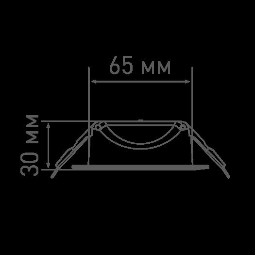 4W теплый свет (1-SDL-001-01)