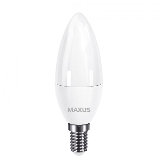 Лампа світлодіодна MAXUS 1-LED-733 C37 7W 3000K 220V E14