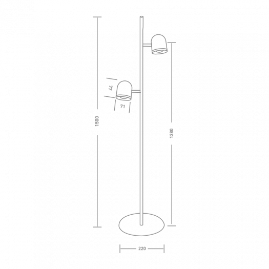 Спотовый светильник MAXUS MSL-01F 2x4W 4100K черный