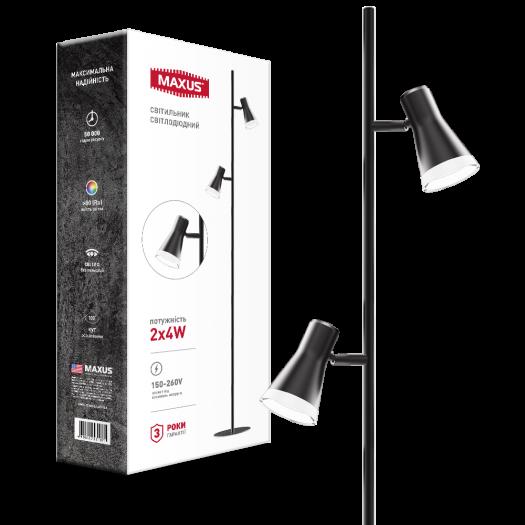 Спот світильник на 2 лампи MAXUS MSL-02F 2x4W 4100K чорний