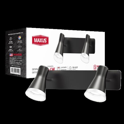 Спот світильник на 2 лампи MAXUS MSL-02W 2x4W 4100K чорний
