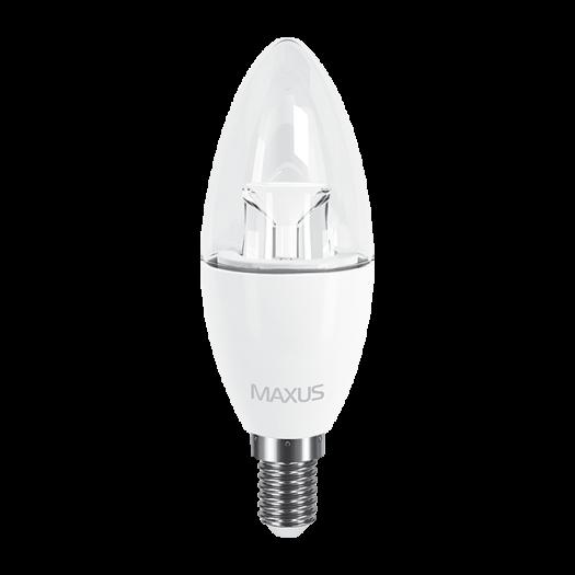 LED лампа MAXUS C37 6W теплый свет E14 (2-LED-531)