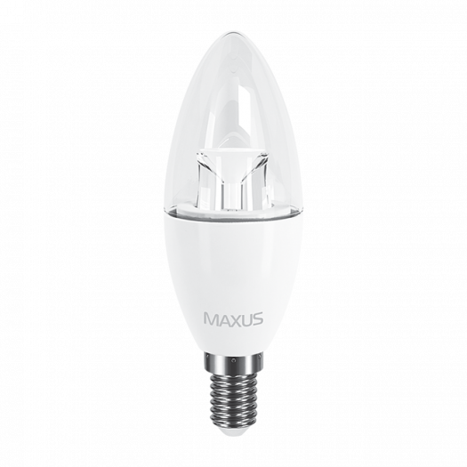 LED лампа Maxus C37 6W яскраве світло E14 (2-LED-532)