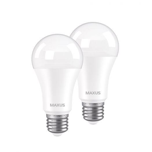 Лампа світлодіодна MAXUS A60 12W 4100K 220V E27 (2шт)