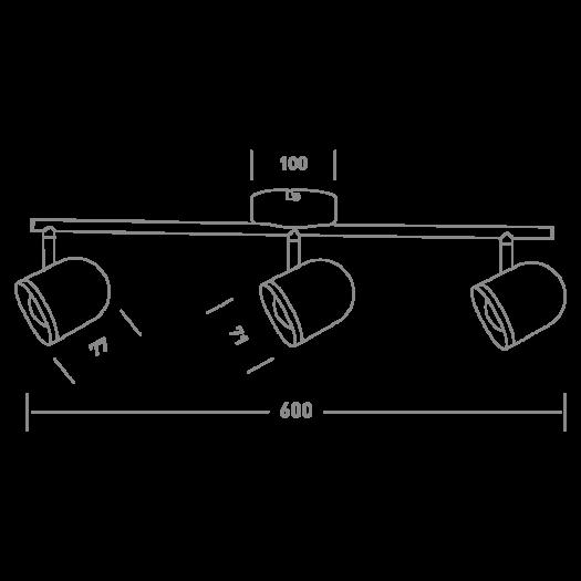 Спотовый светильник MAXUS MSL-01C 3x4W 4100K черный