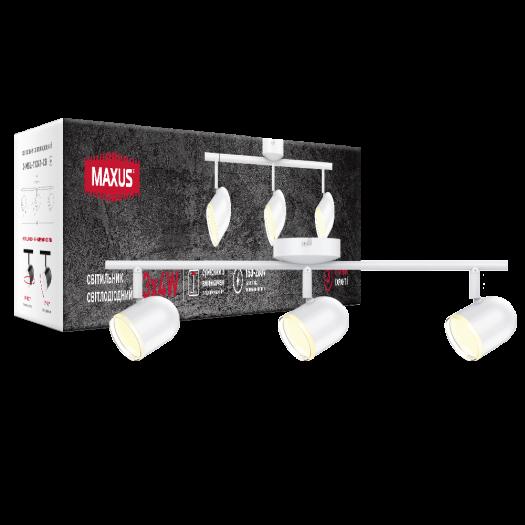 Спот світильник на 3 лампи MAXUS MSL-01C 3x4W 4100K білий