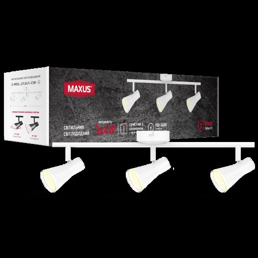 Спот світильник на 3 лампи MAXUS MSL-02C 3x4W 4100K білий