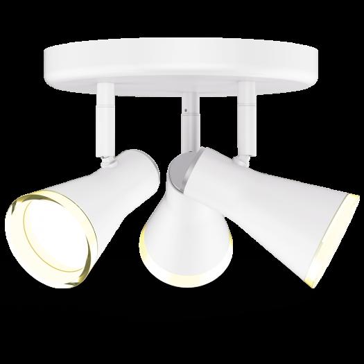 Спотовый светильник MAXUS MSL-02R 3x4W 4100K белый