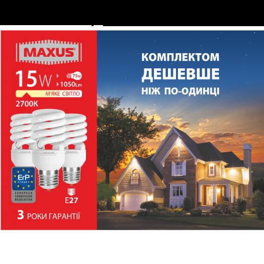 КЛЛ лампа 15W тепле світло Xpiral Е27 220V (3-ESL-199-11)