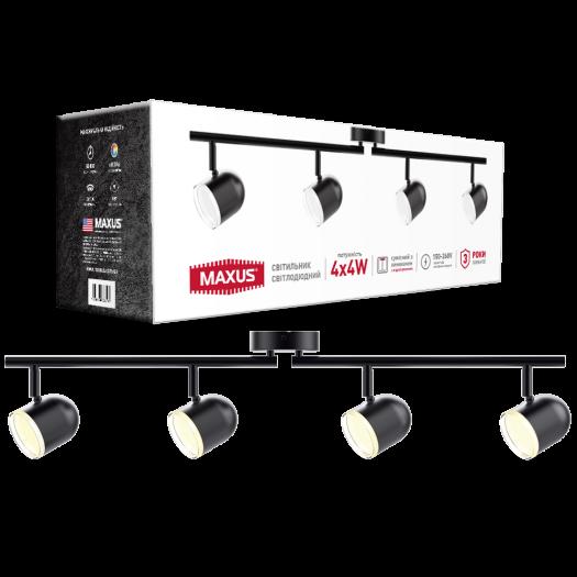 Спот светильник на 4 лампы MAXUS MSL-01C 4x4W 4100K черный