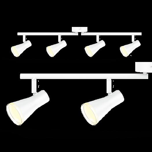 Спот світильник на 4 лампи MAXUS MSL-02C 4x4W 4100K білий