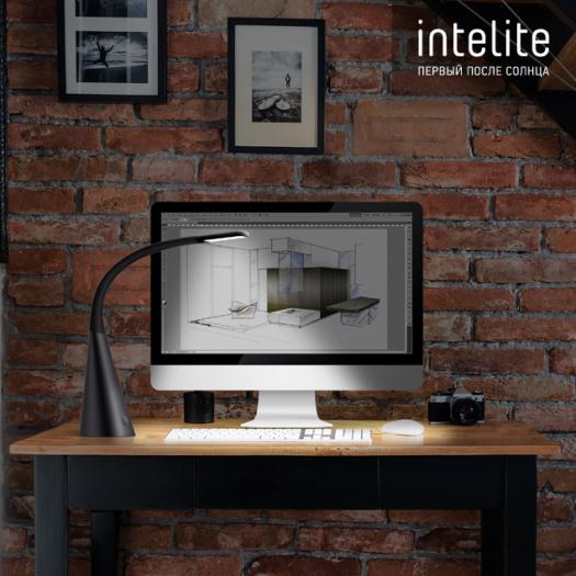 Умная лампа Intelite DL4 5W (USB, димминг) графит