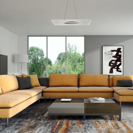 Умный подвесной светильник Intelite 32W 3000-6000K квадрат