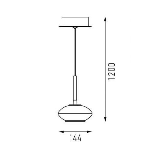 Світильник підвісний Falzer 5W (дизайнерська серія Intelite DECO)
