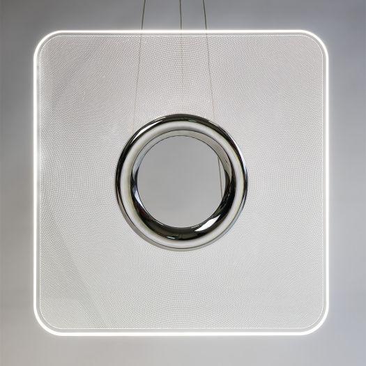 Розумний підвісний світильник Intelite 32W 3000-6000K квадрат
