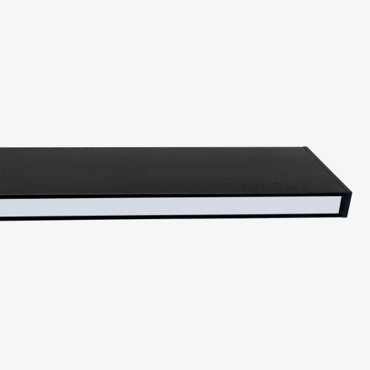 Світильник лінійний Maxus assistance Line Slim Pro 30W 80Ra 4000 1500mm 140B Down IP20 Black